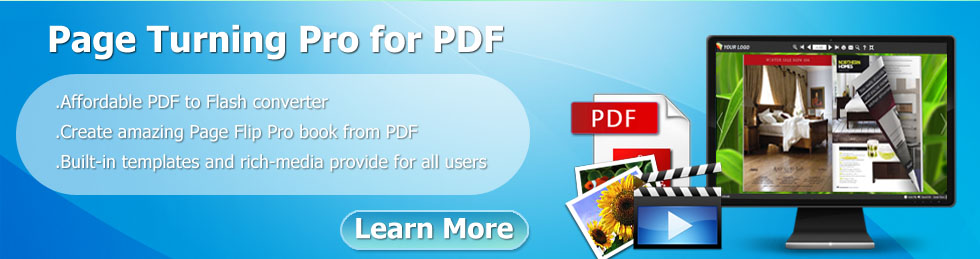 create page turning magazine from PDF with multimedia on windows