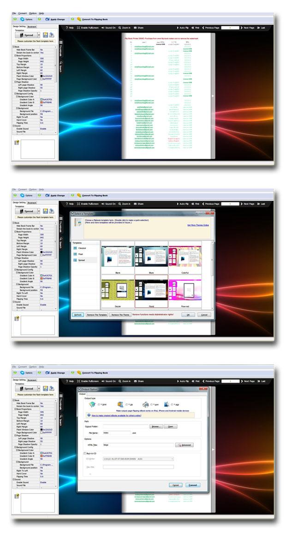 Page Turning Printer full screenshot