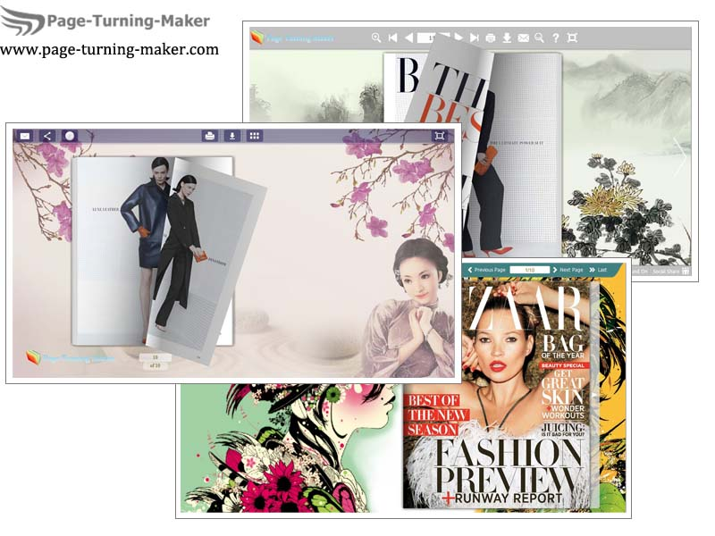 Page Turning Book Theme for Chinoiserie screenshot
