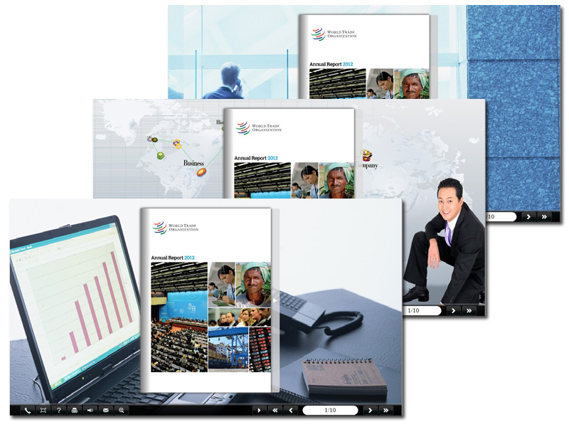 Windows 7 Page Turning Book Theme for Business 1.0 full