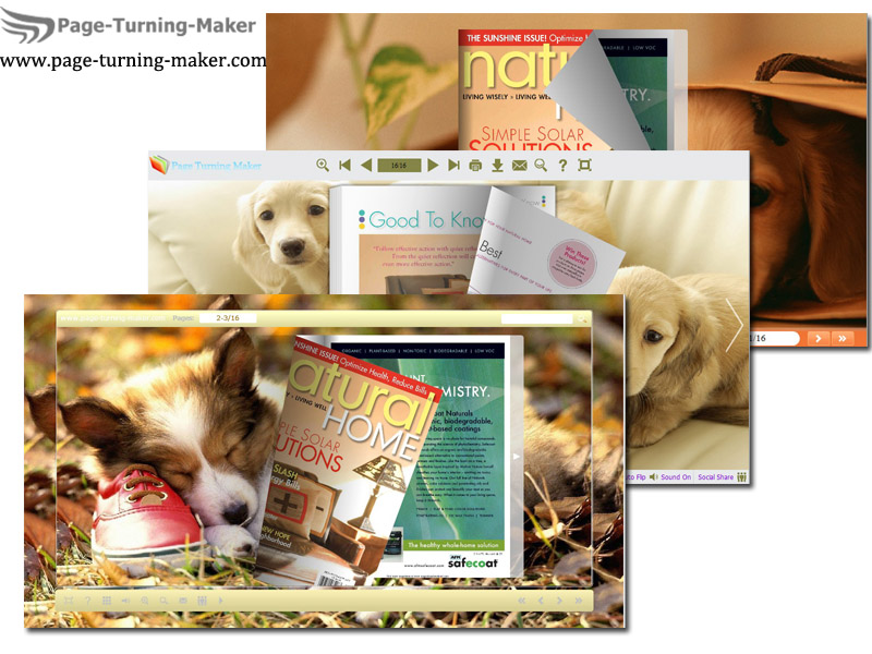 Lovely Dog Theme for Page Turning Book