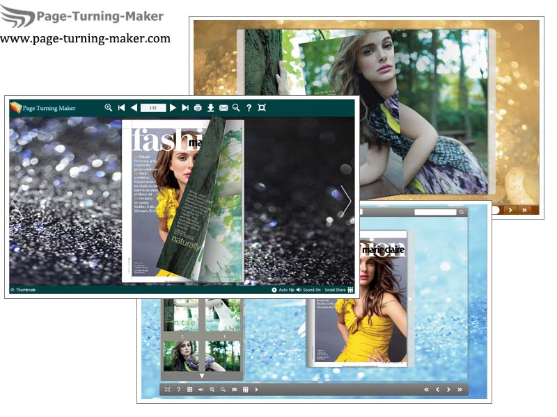 Windows 7 Gloss Theme for Flash Page Turning Book 1.0 full