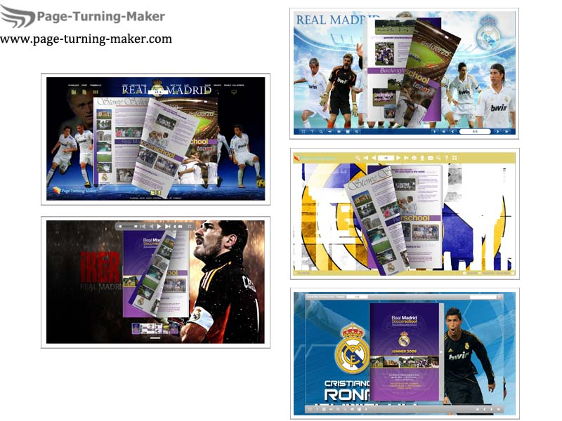 Windows 7 Real Madrid FC Theme for Page Turning Book 2.0 full