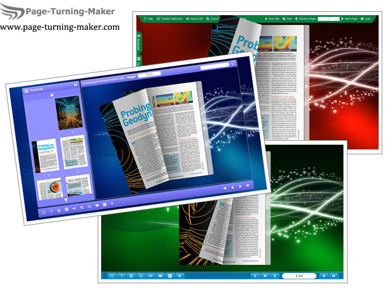 Windows 7 Starlight Template for Page Turning Book 1.0 full